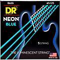 DR Strings Hi-Def NEON Blue Coated Medium 5-String (45-125) Bass Guitar Strings  Thumbnail