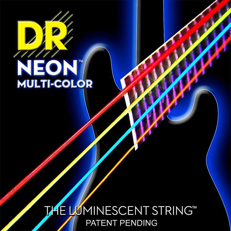 DR StringsHi-Def NEON Multi-Color Coated Medium 6-String Bass Strings