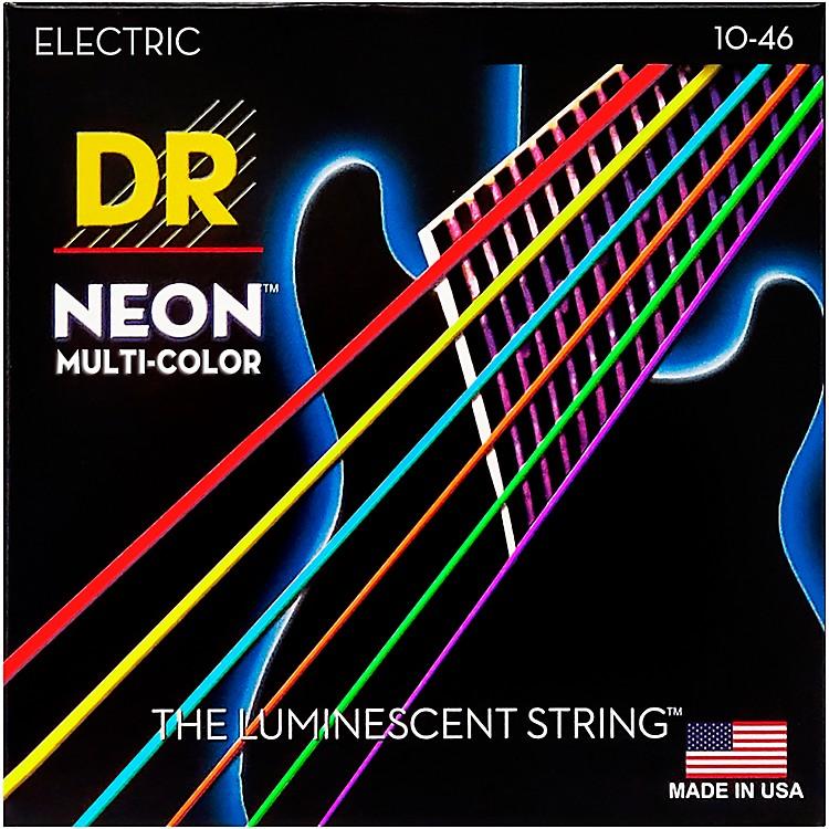 DR StringsHi-Def NEON Multi-Color Coated Medium Electric Guitar Strings