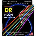 DR Strings Hi-Def NEON Multi-Color Coated Medium-Lite Acoustic Guitar Strings  Thumbnail