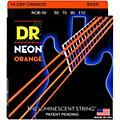 DR Strings Hi-Def NEON Orange Coated 4-String Bass Strings Heavy (50-110)