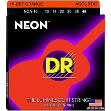 DR Strings Hi-Def NEON Orange Coated Acoustic Guitar Strings Lite (10-48)
