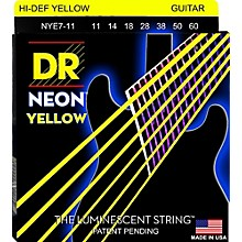 DR Strings Hi-Def NEON Yellow Coated Heavy 7-String Electric Guitar Strings (11-60)