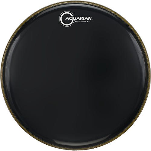 Aquarian Hi-Frequency Drumhead Black Black 18 in.