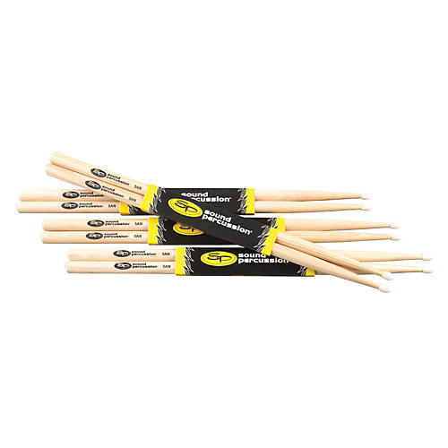 Sound Percussion Labs Hickory Drumsticks 4 Pack 5A Nylon