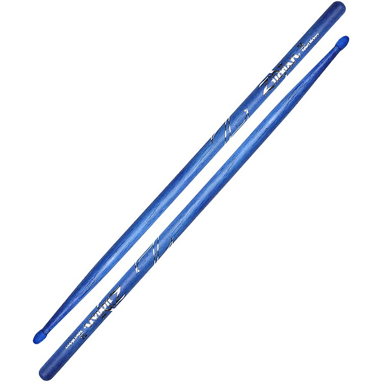 Zildjian Hickory Drumsticks, Blue 5B Wood