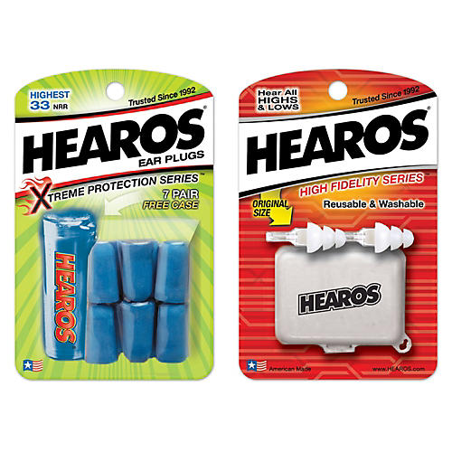 Hearos High Fidelity Ear Plugs with Xtreme Ear Plugs (7-Pairs)