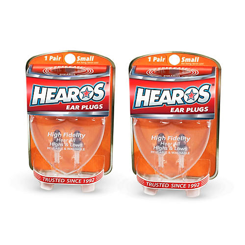 Hearos High Fidelity-Series Long-Term Earplugs (2 Pairs)