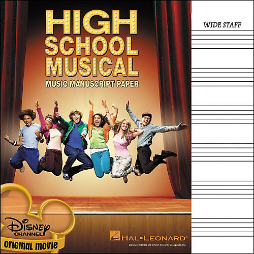 Hal Leonard High School Musical Manuscript Paper