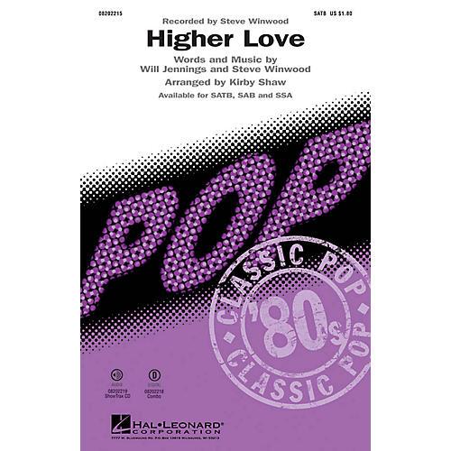 Hal Leonard Higher Love SATB by Steve Winwood arranged by Kirby Shaw-thumbnail
