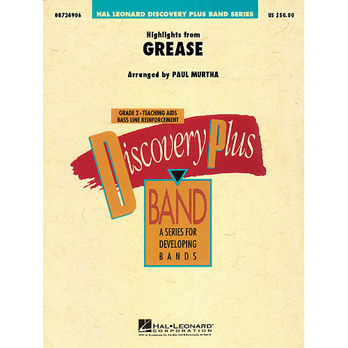 Hal Leonard Highlights from Grease - Discovery Plus Concert Band Series Level 2 arranged by Paul Murtha-thumbnail