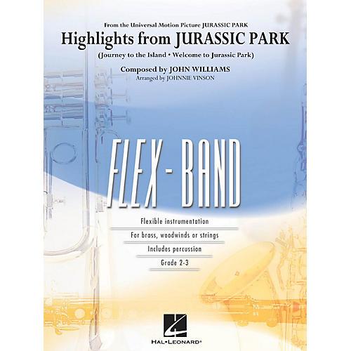 Hal Leonard Highlights from Jurassic Park Concert Band Level 2-3 Arranged by Johnnie Vinson-thumbnail