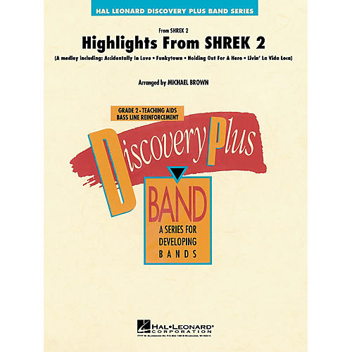 Hal Leonard Highlights from Shrek 2 - Discovery Plus Concert Band Series Level 2 arranged by Michael Brown-thumbnail