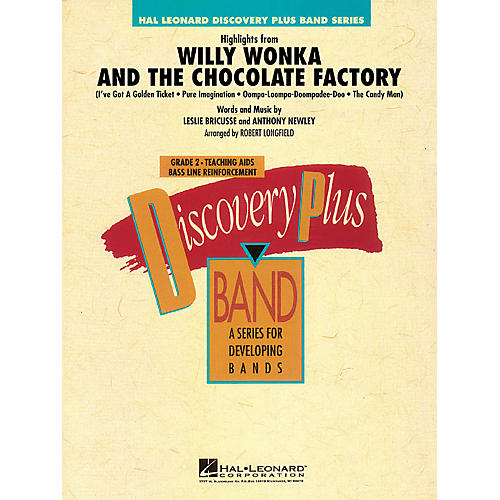Hal Leonard Highlights from Willy Wonka & The Chocolate Factory - Discovery Plus Band Level 2 by Robert Longfield-thumbnail