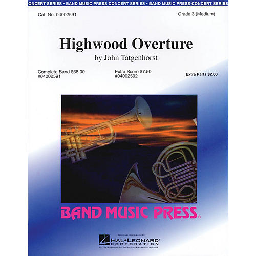 Band Music Press Highwood Overture Concert Band Level 3 Composed by John Tatgenhorst-thumbnail