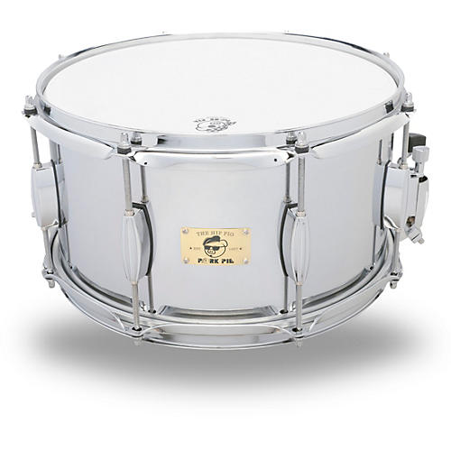 Pork Pie Hip Pig Chrome Steel Snare Drum-thumbnail