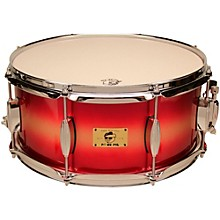 Pork Pie Hip Pig Eastern Mahogany Snare Drum 14 x 6.5 in. Red/Gold Duco Finish