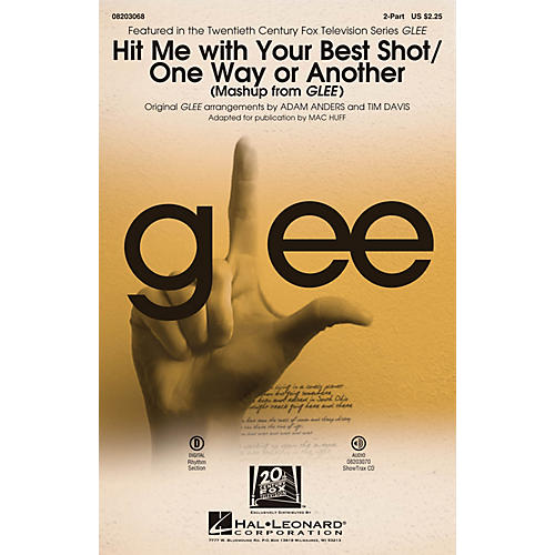 Hal Leonard Hit Me With Your Best Shot/One Way or Another (from Glee) 2-Part by Glee Cast arranged by Adam Anders-thumbnail