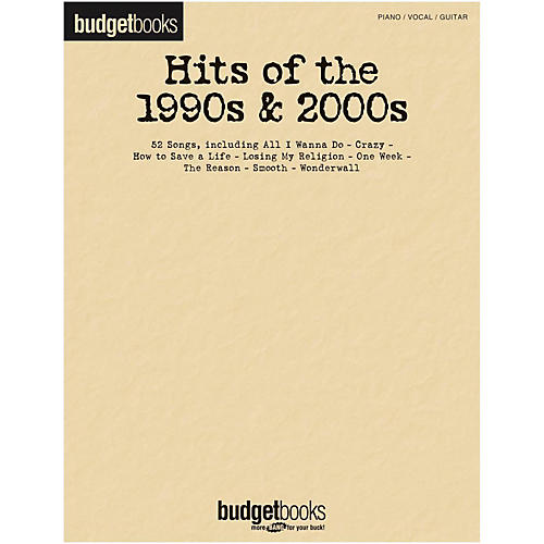 Hal Leonard Hits Of The 1990s & 2000s - Budget Book for Piano/Vocal/Guitar-thumbnail