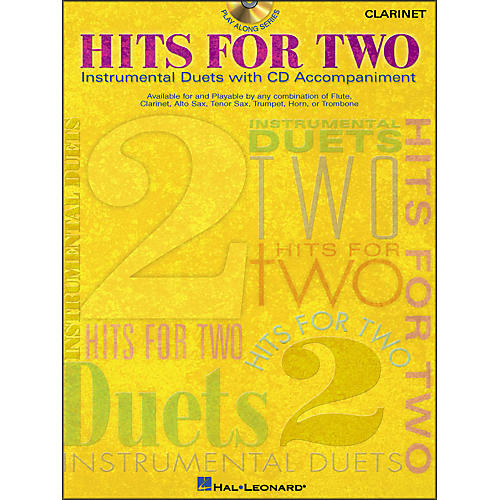 Hal Leonard Hits for Two - Instrumental Duets for Clarinet Book/CD