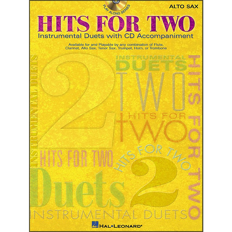 Hal Leonard Hits for Two (Instrumental Duets) for Alto Sax Book/CD Pkg