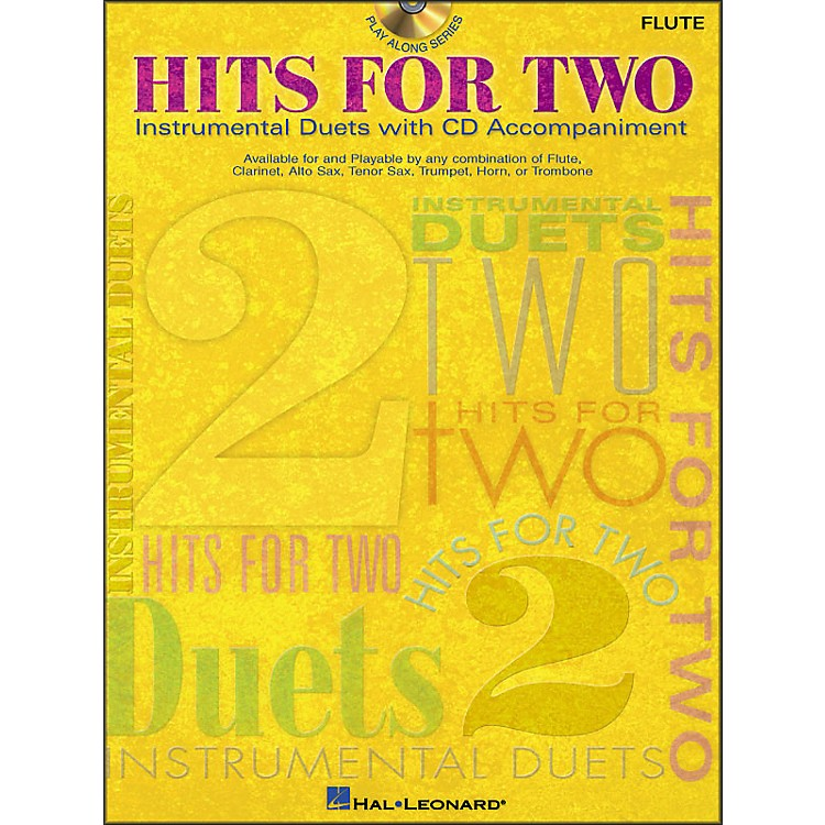 Hal LeonardHits for Two (Instrumental Duets) for Flute Book/CD Pkg