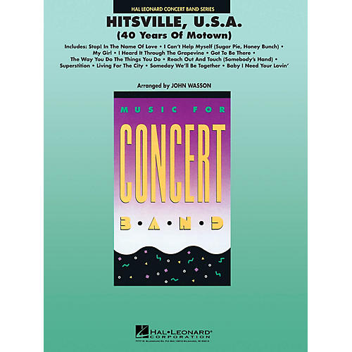 Hal Leonard Hitsville, U.S.A. (40 years of Motown) Concert Band Level 4-5 Arranged by John Wasson-thumbnail