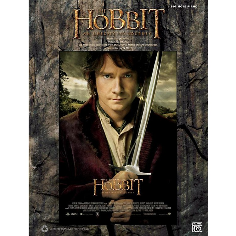 Alfred Hobbit Unexpected Journey Big Note Piano Book