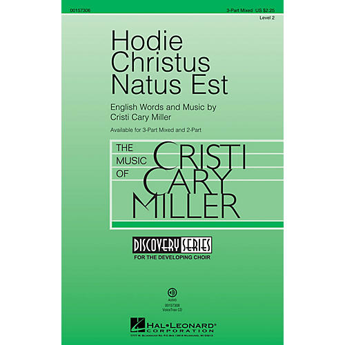 Hal Leonard Hodie Christus Natus Est (Discovery Level 2) 3-Part Mixed composed by Cristi Cary Miller-thumbnail