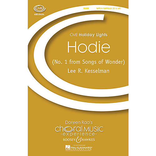 Boosey and Hawkes Hodie (No. 1 from Songs of Wonder) CME Holiday Lights SATB a cappella composed by Lee Kesselman-thumbnail