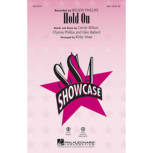 Hal Leonard Hold On (ShowTrax CD) ShowTrax CD by Wilson Phillips Arranged by Kirby Shaw-thumbnail