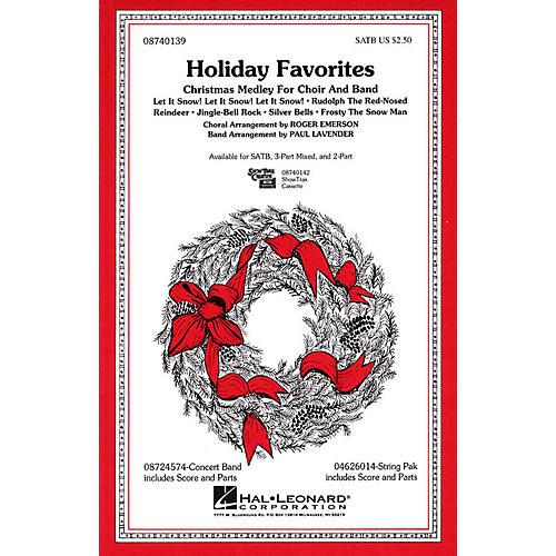 Hal Leonard Holiday Favorites (Medley) SATB arranged by Roger Emerson-thumbnail