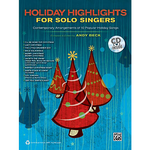 Alfred Holiday Highlights for Solo Singers Book & CD