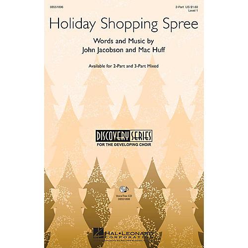 Hal Leonard Holiday Shopping Spree 3-Part Mixed Composed by John Jacobson, Mac Huff-thumbnail