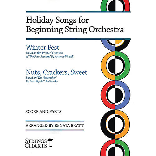 String Letter Publishing Holiday Songs for Beginning String Orchestra String Letter Publishing Series Softcover by Renata Bratt-thumbnail