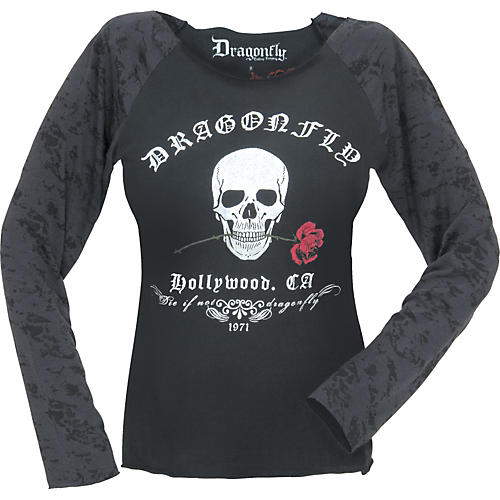 Dragonfly Clothing Company Hollywood Women's Raglan Shirt-thumbnail
