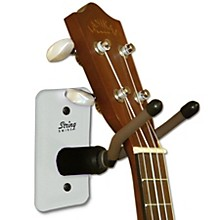 String Swing Home & Studio Ukulele/Mandolin Hanger White Metal