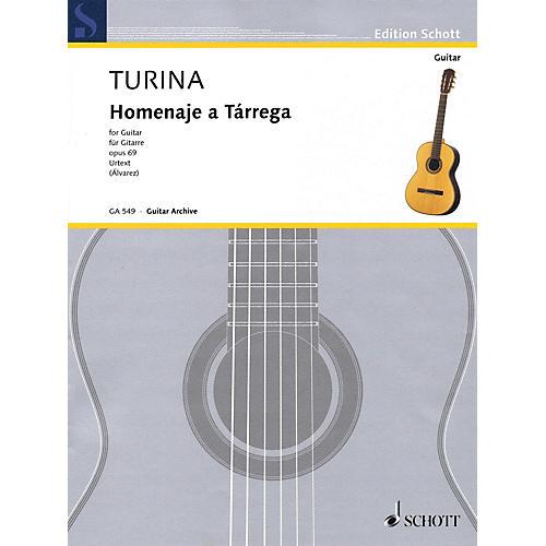 Hal Leonard Homenaje a Tarrega Op. 69 (Guitar) Schott Series Softcover