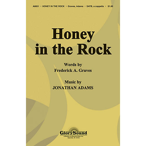 Shawnee Press Honey in the Rock SATB a cappella arranged by J. Adams-thumbnail