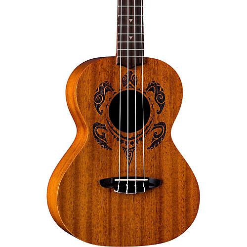 Luna Guitars Honu Tribal Turtle Tenor Ukulele-thumbnail
