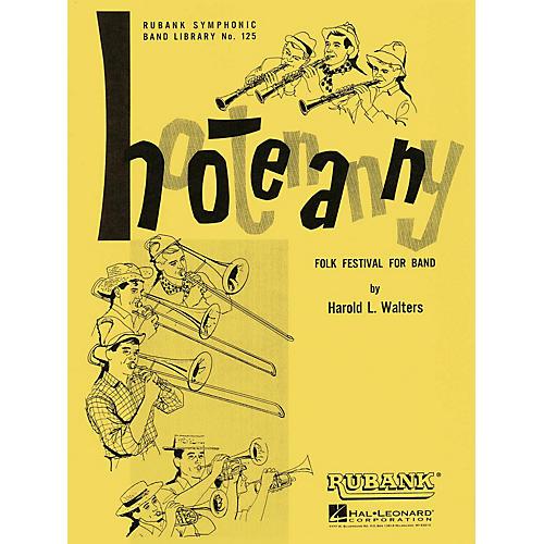 Rubank Publications Hootenanny (Folk Festival for Band) Concert Band Level 3-4 Arranged by Harold L. Walters-thumbnail
