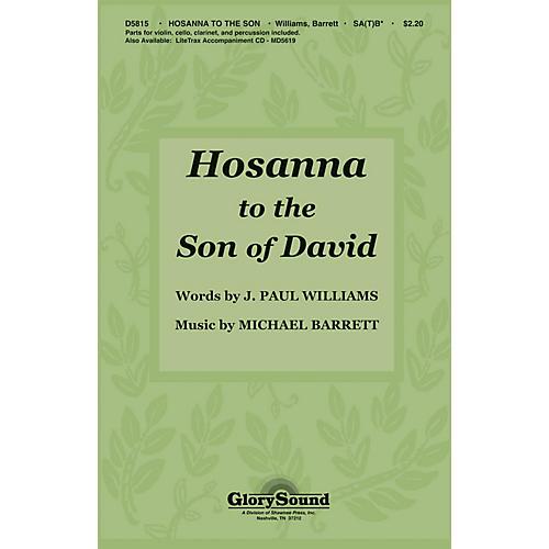 Shawnee Press Hosanna to the Son of David (SA(T)B with violin, clarinet, percussion, cello) SA(T)B by J. Paul Williams-thumbnail