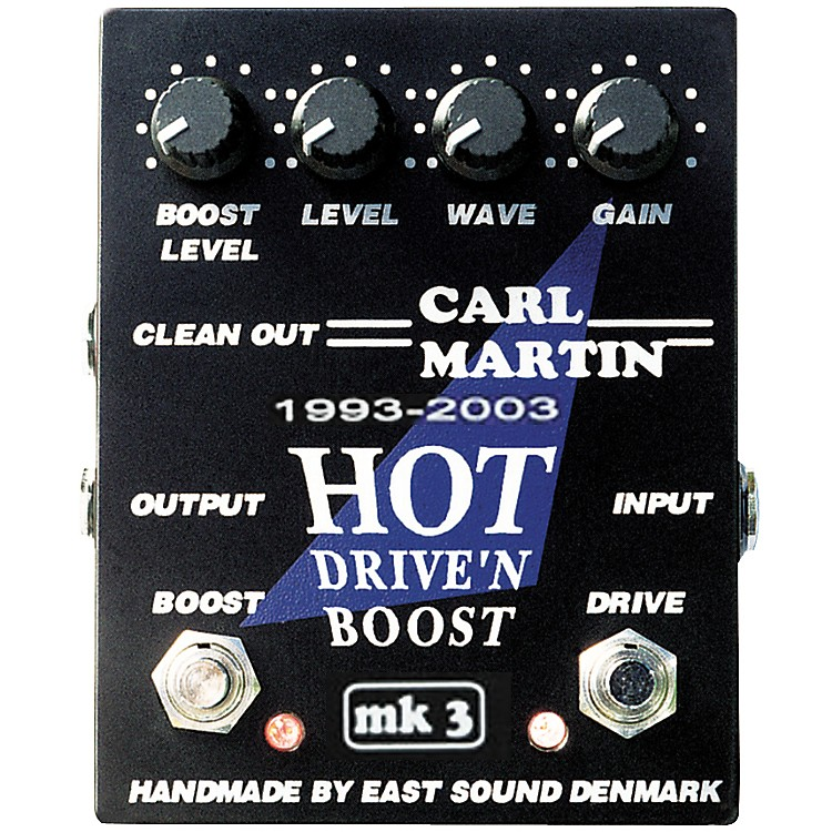 Carl Martin Hot Drive 'N Boost mk 3 Pedal