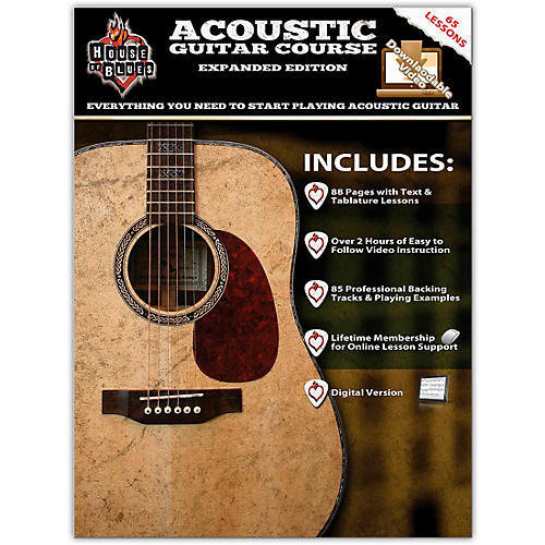Rock House House Of Blues Acoustic Guitar Course Expanded Edition Book/2-DVD Set