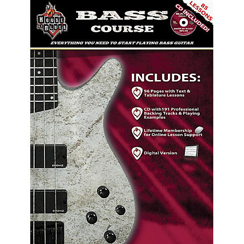 Rock House House Of Blues Bass Guitar Course (Book/CD)