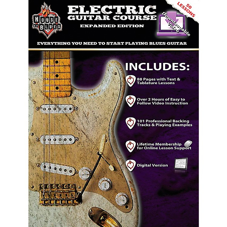 Rock House House Of Blues Electric Guitar Course Expanded Edition Book/2-DVD Set.