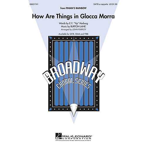 Hal Leonard How Are Things in Glocca Morra (from Finian's Rainbow) TTBB A Cappella Arranged by John Purifoy-thumbnail