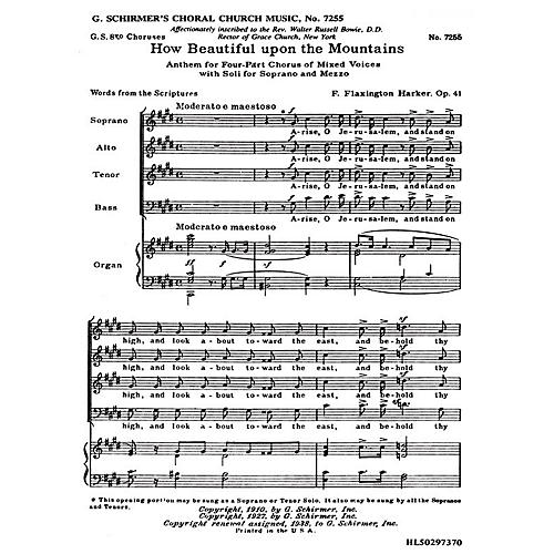 G. Schirmer How Beautiful Upon the Mountains, Op. 41d (SATB) by F. Flaxington Harker-thumbnail