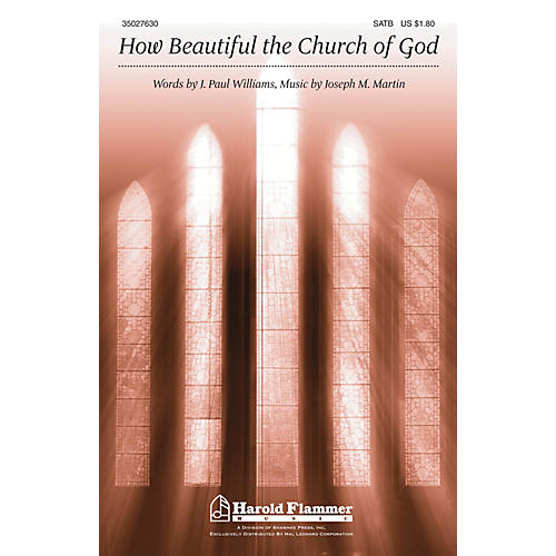 Shawnee Press How Beautiful the Church of God SATB composed by Joseph M. Martin-thumbnail