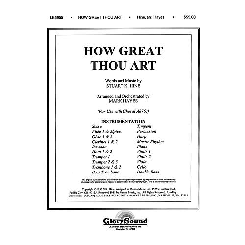 Shawnee Press How Great Thou Art (Orchestration) Score & Parts arranged by Mark Hayes-thumbnail